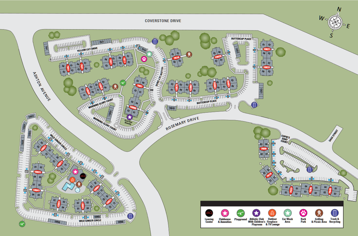 TGM Ridge Apartments Map